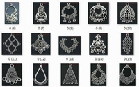 OMH wholesale jewelry 100pcs tibetan silver mixed pendants earring connectors Drop Earrings -(About 25 kinds of)