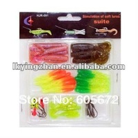 Free shiping!!Soft baits lure soft fishing lure 5 pieces every kind/7 kinds per set/cheapest price