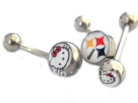 Free Shipping! Wholesale Hello Kitty belly ring navel ring tongue ring Piercing Body Jewelry 295
