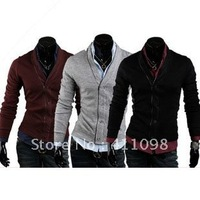 hot hot hotsale! Men's Fashion Sweater Knitwear Slim Cardigans Men's Garment M-XXL Wholesale and Retail Free Shipping