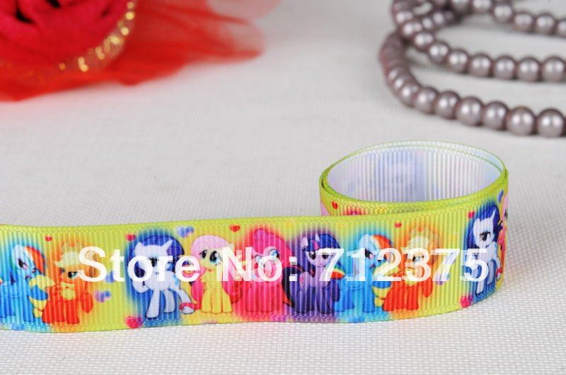 "Free shipping 7/8"" my little pony grosgrain ribbon 50 yards(China (Mainland))"