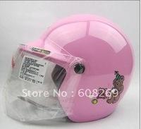 Free shipping! Wholesale Small Benxiong children helmet / motorcycle helmet pink
