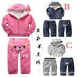 5 sets/lot Bear design children boys girls clothing set (long sleeved t-shirt+pants) kids cotton clothes infant wear wholesale