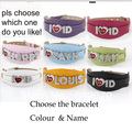 Hot Selling! New Fashion Crystal Letters Leather I Love One Direction Wristband Bracelet With A Beautiful Gift Box