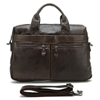Free Shipping High Quality Fashion Vintage Genuine Leather Multifunction JMD Men's Briefcase Laptop Handbag Messenger bag #7122C
