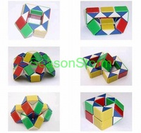 Min Order $20 (mixed order)  Retail Snake Magic Cube IQ Puzzle Cube Children's Plastic Toys (SX-159)