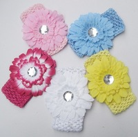5 Colors Crochet Baby Headband Whosesale 50pcs/lot hairband