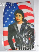 Brang New Pink  Michale Jakson  socks case pouch with america flag for collection Free Shipping
