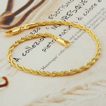 fashion jewelry, twist 18k yellow gold filled bracelet,18k bangle 18k bracelet bangle ,gold bracelet
