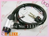 free shipment  bicycle cable lock waterproof lock 15*80cm
