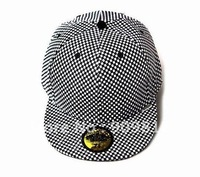 Free Shipping Plaid pattern hip-hop cap, Skateboard hat, Bboy caps, Sport baseball hats, 2 color 20pcs/lot
