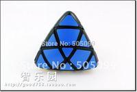 Free shipping of Lanlan 4-color Pillowed Shape Master Pyramorphix Puzzle Speed Cube Black Magic Cube