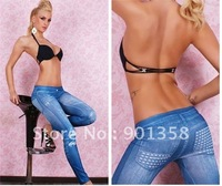 Free shipping Fashion Ladies Leggings, Black Metal Nail Fashion Jeppings ,W11L,10pcs per lot, black color