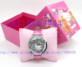 hot selling, 20 PCS Hello Kitty fashion bangle watch,lady's crystal watch KT-01