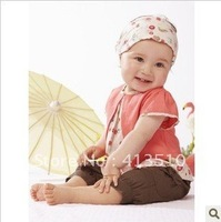 wholesale 3 pcs cotton baby clothes set kids clothing set Leave two sets of T-shirt + pants + hat children apparel free shippin
