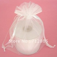 Wholesale 100pcs/lot 20x35cm Large White Organza Bag Voile Pouch Gift Packaging Bags Free Shipping
