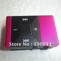 DHL Free Shipping ! ! ! 500pcs/lot  Rectangular Design Clip Mp3 Player Support Max 8GB TF Card  Promotion ! ! !