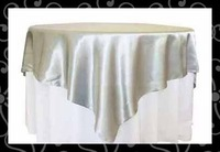 "Free shipping 55*55"" satin  table overlay-table cloth"