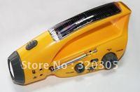 Solar Hand Crank Radio AM/FM With flashlight  Mobile phone charger