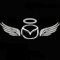 Free Shipping New 3D Decal Eagle wings Style Car Emblem Logo Sticker Paper