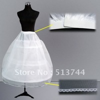 in stockFree shipping:  wholesale  2 Hoops  bridal petticoat  Underskirt  with lace edge