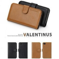 Luxury spigen SGP valentinus leather case,SGP Wallet case pouch for iphone 4G 4s with retail package + freeshipping