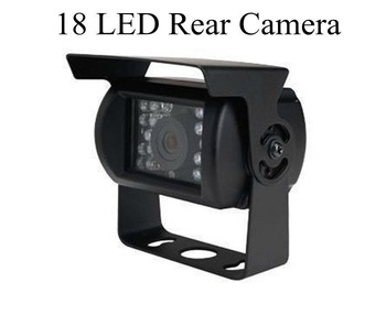 "Free Shipping 24V Rear Camera for Truck Bus with 18 LED, 420TVL,1/3"" color CMOS"