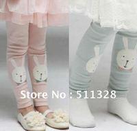 FREE SHIPPING  children clothings girl leggings  girl lovely rabbit leggings