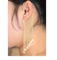 2014  fashion personality golden earrings with tide restoring ancient ways female pearl earrings