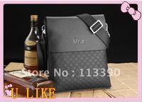 new arrival 2012 hot sale fashion men shoulder bag, men genuine leather messenger bag,high quality business bag