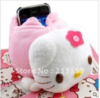 Wholesale free shipping for Lovely Desktop Hello Kitty holder Case Stand Cover Base for iphone4 4g also for Iphone 5