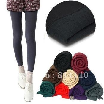 Trend Knitting  Low Price winter warm thickness 1200D villi skinny slim Nine points leggings for women Plus-Size
