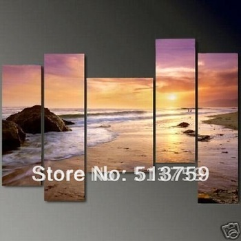 Hot sale! 5PC MODERN ABSTRACT HUGE LARGE CANVAS ART OIL PAINTING +FREE GIFT