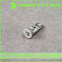 Super Bright + Free Shipping + Wholesale 10pcs/lot + Canbus Car LED SMD Light + NO OBC ERROR Canbus T10 W5W 194 3 Cree Led Bulb