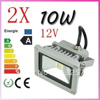 2pcs 10W 12V 900LM  Flood Light Waterproof LED Landscape Lighting outdoor LED