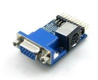 Free shipping wholesale  VGA To PS2 Serial Adapter 100pcs/lot