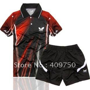 HOtsale3 New 2010 Men Table Tennis Polo Shirt+Shorts