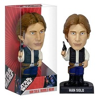 FUNKO WACKY WOBBLER STAR WARS Han Solo BOBBLE HEAD FIGURE