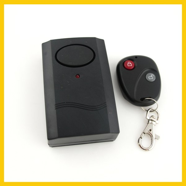 Free Shipping New Motorcycle Security Vibration Sensor Alarm System Anti-theft Remote Controll ZWQ10024(China (Mainland))