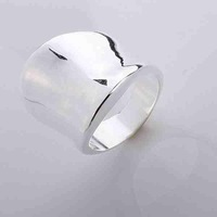 Min.order is $15(mix) R052 Thumb Ring ! High Quality,  silver ring. fashion jewellry silver rings