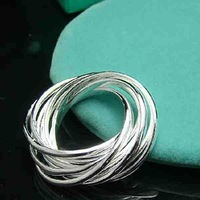 Min.order is $15(mix) R007 Nine ring ! High Quality,  silver ring. Fashion jewellry silver rings