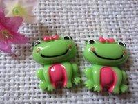 flat back resin frog for phone decoration 12pcs/lot
