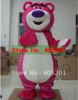Free Shipping Pink LOTSO Bear Mascot Costume