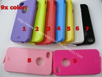 300pcs/lot wholesale 9x color TPU soft protective case cover w/ with anti dust cover cap for iphone 4 4G 4S, free shipping