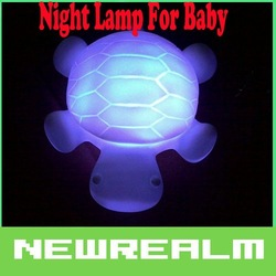 20 pcs/ lot Lovely 7 colour small tortoise small night light bedroom for the baby(Hong Kong)