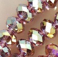 Free Shipping>>>>200pcs Purple Multicolor Crystal Loose Bead 4x6mm