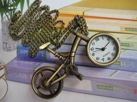 Vintage Bicycle Bike Key Ring Pocket Watch Antique Brass Pocket Watch