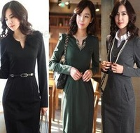 2012 qiu dong outfit new big yards women's professional women's dress cultivate one's morality bag hip
