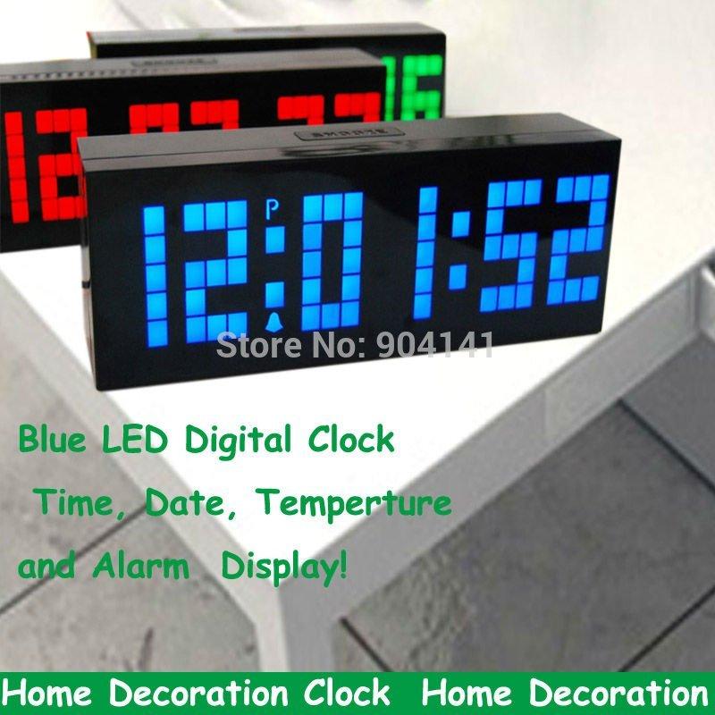 Achetez en gros clock wall blue led en ligne des - Horloge murale led bleue ...
