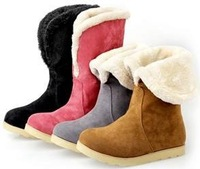 Женские ботинки CooLcept ankle half short wedge boots women snow fashion winter warm boot footwear shoes P10059 EUR size 34-40